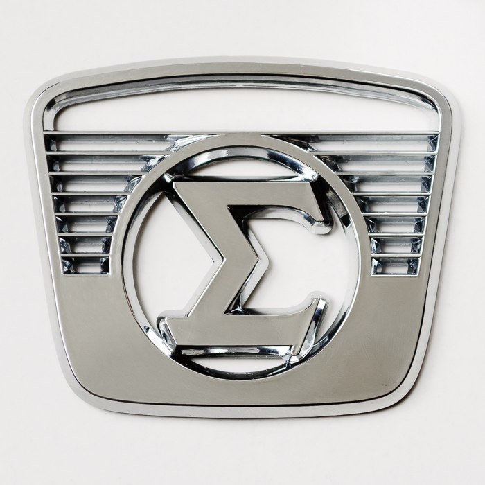 Molded Relief Logo with Chrome-Plating